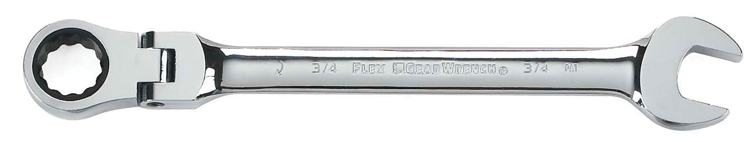 """GearWrench 1"""" 12 Point Flex Head Ratcheting Combination Wrench"""