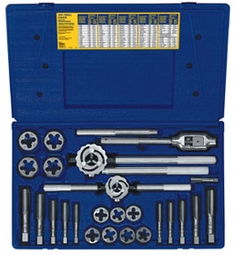 Irwin Hanson 25 pc. Metric Tap and Die Set AHN-97311