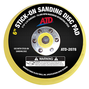 ATD Tools Stick-on Sanding Disc Pad ATD-2078