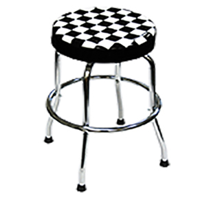 ATD Tools Shop Stool with Checker Design ATD-81055