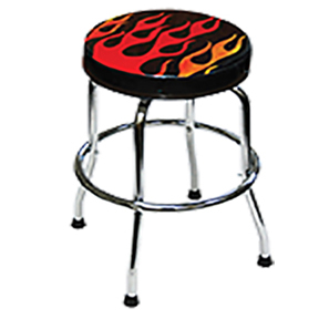 ATD Tools Shop Stool with Flame Design ATD-81056