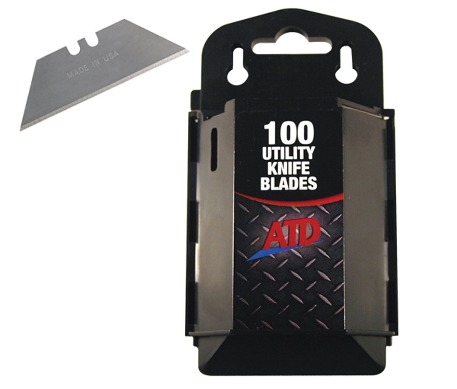 ATD Tools 100 pack Utility Knife Blades with Dispenser ATD-8813