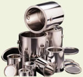 U.S. Can Empty Steel Quart Cans with Lids CAN-1908