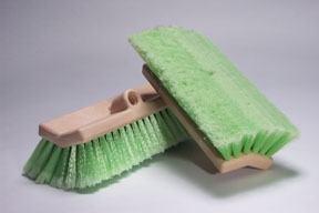 "Hi-Tech Industries 10"" Green Bi-Level Wash Brush HIT-TB-10DF"