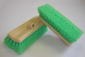 "Hi-Tech Industries 10"" Green Bi-Level Wash Brush HIT-TB-10DFCR"