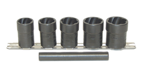 "LTI Tools 3/4"" to 1"" 5pc Twist Socket Set LOC-4400"