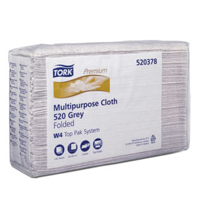 Tork Multipurpose Cloth, 520, Top-Pak MOL-520378