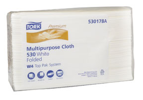 Tork Premium 530 Multipurpose Cloth, Top-Pak MOL-530178A