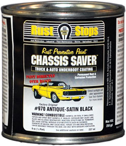 Magnet Paint Co Chassis Saver™ Antique Satin Black, 1/2 Pints MPC-UCP970-16