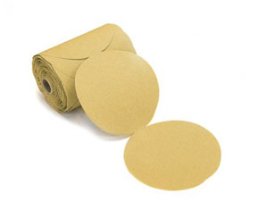 "Mirka Abrasives 23 Series Gold 6"" PSA Linkrol Disc, 100-Grit, D-Weight Backing MRK-23-342-100"