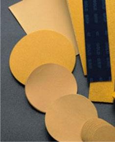 "Mirka Abrasives 6"" 240-Grit 23 Series Gold PSA Linkrol Disc, C-Weight Backing MRK-23-342-240"