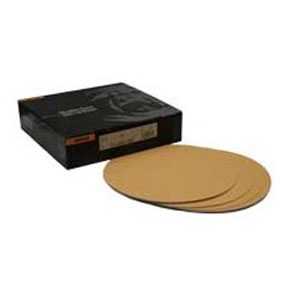 "Mirka Abrasives 8"" P80-Grit 23 Series Gold Heavy Duty Disc, E-Weight Backing MRK-23-352-080"
