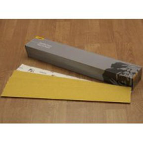 "Mirka Abrasives 2-3/4"" x 16-1/2"" P36-Grit 23 Series Gold PSA Sheet, E-Weight Backing MRK-23-364-036"