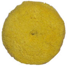 "Presta 7-1/4"" Quik Pad Yellow Blended Wool Medium Cutting Pad PST-890084WD"