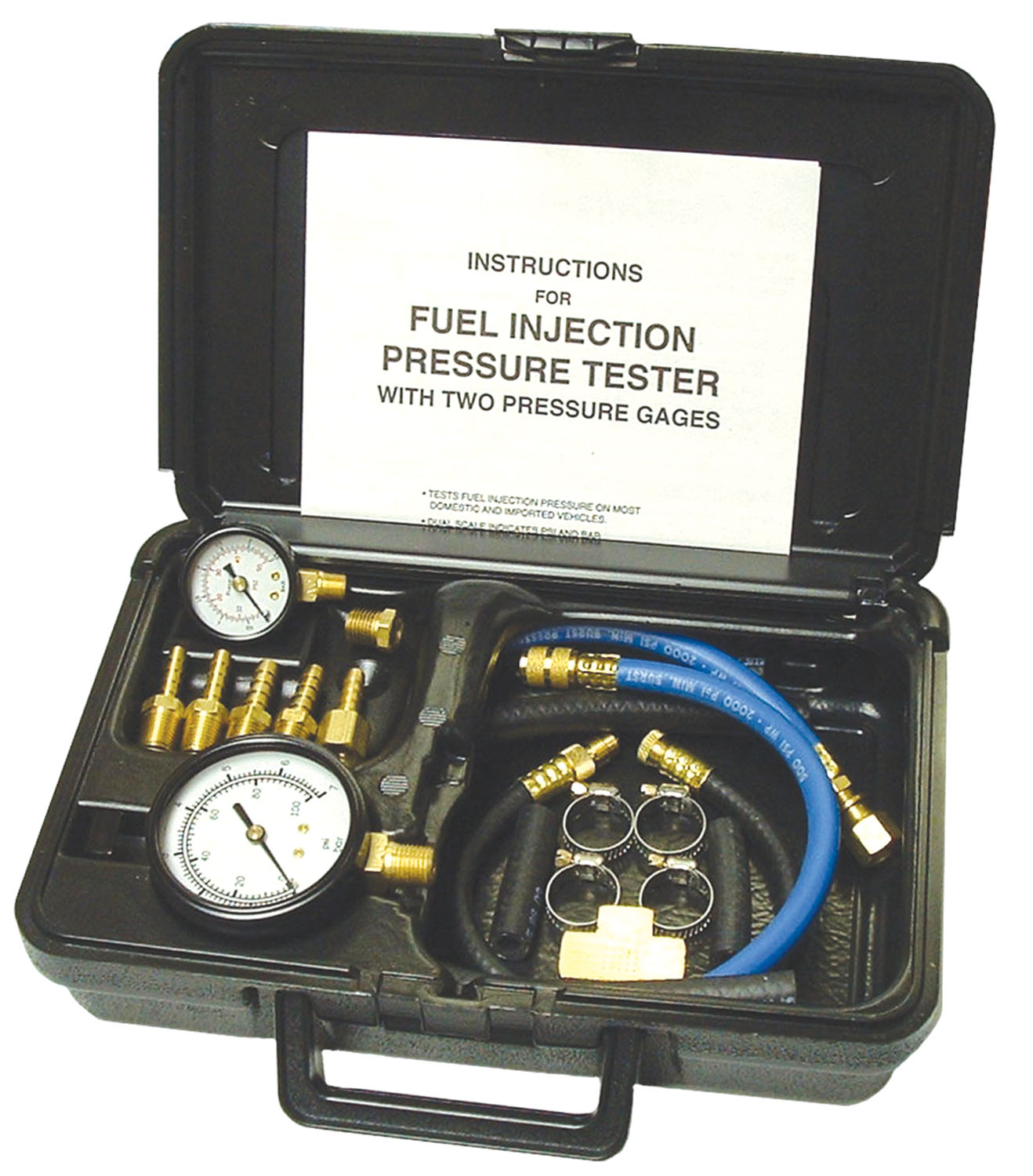Fuel Injection Pressure Tester With Two Gages In Molded Plastic 78265 Voltage Drop Pro Circuit From Hickok Waekon Storage Case
