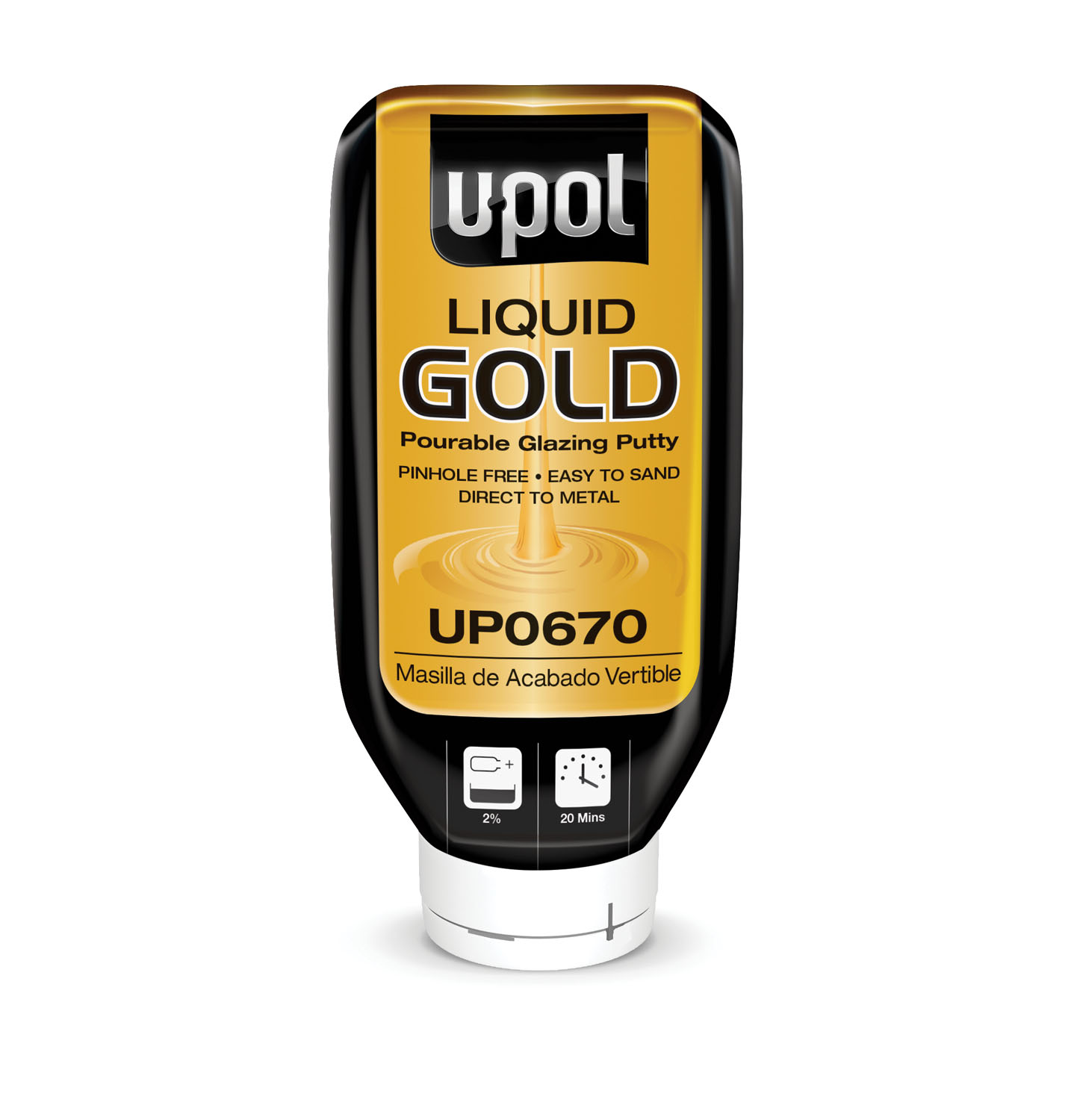 U-POL Products Liquid Gold ™, Pourable Glazing Putty UPL-UP0670