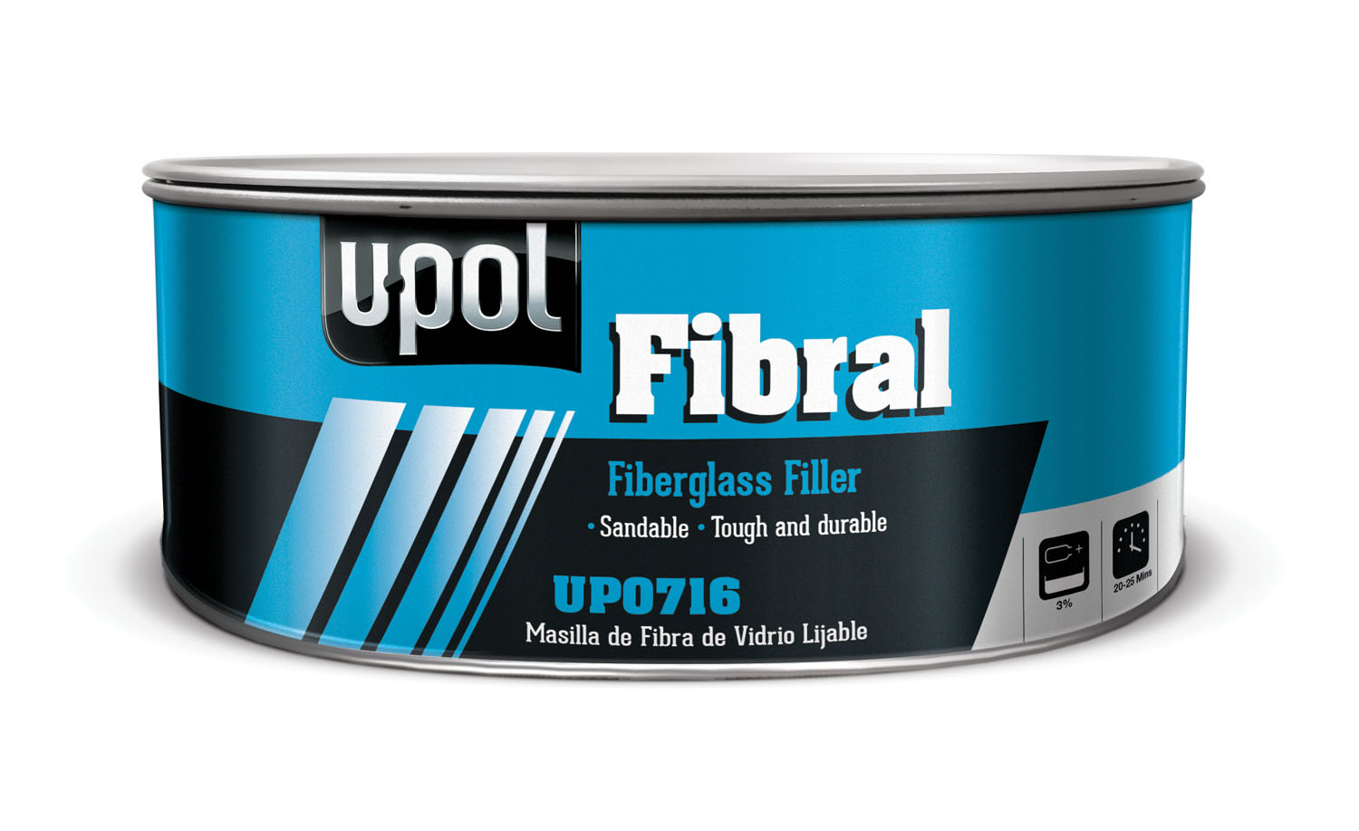 U-POL Products FIBRAL Sandable Glass Fibre Repair Paste, 900ml UPL-UP0716