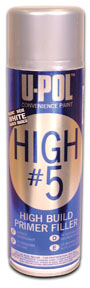 U-POL Products High #5 1K High Build Primer, White, Aerosol UPL-UP0763