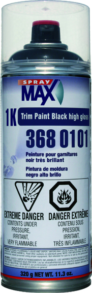 U.S. Chemical & Plastics 1k Trim Paint Black, Gloss USC-3680101