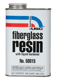 U.S. Chemical & Plastics Fiberglass Resin, 1-Quart USC-58015