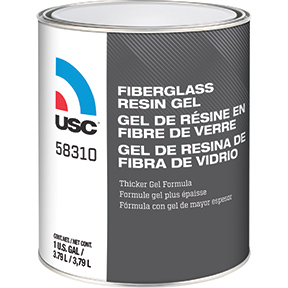 U.S. Chemical & Plastics Fiberglass Resin Gel, 1-Quart USC-58320