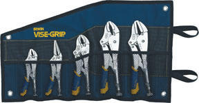 Vise Grip 5 Piece FastRelease Locking Pliers Kitbag VSG-538KBT
