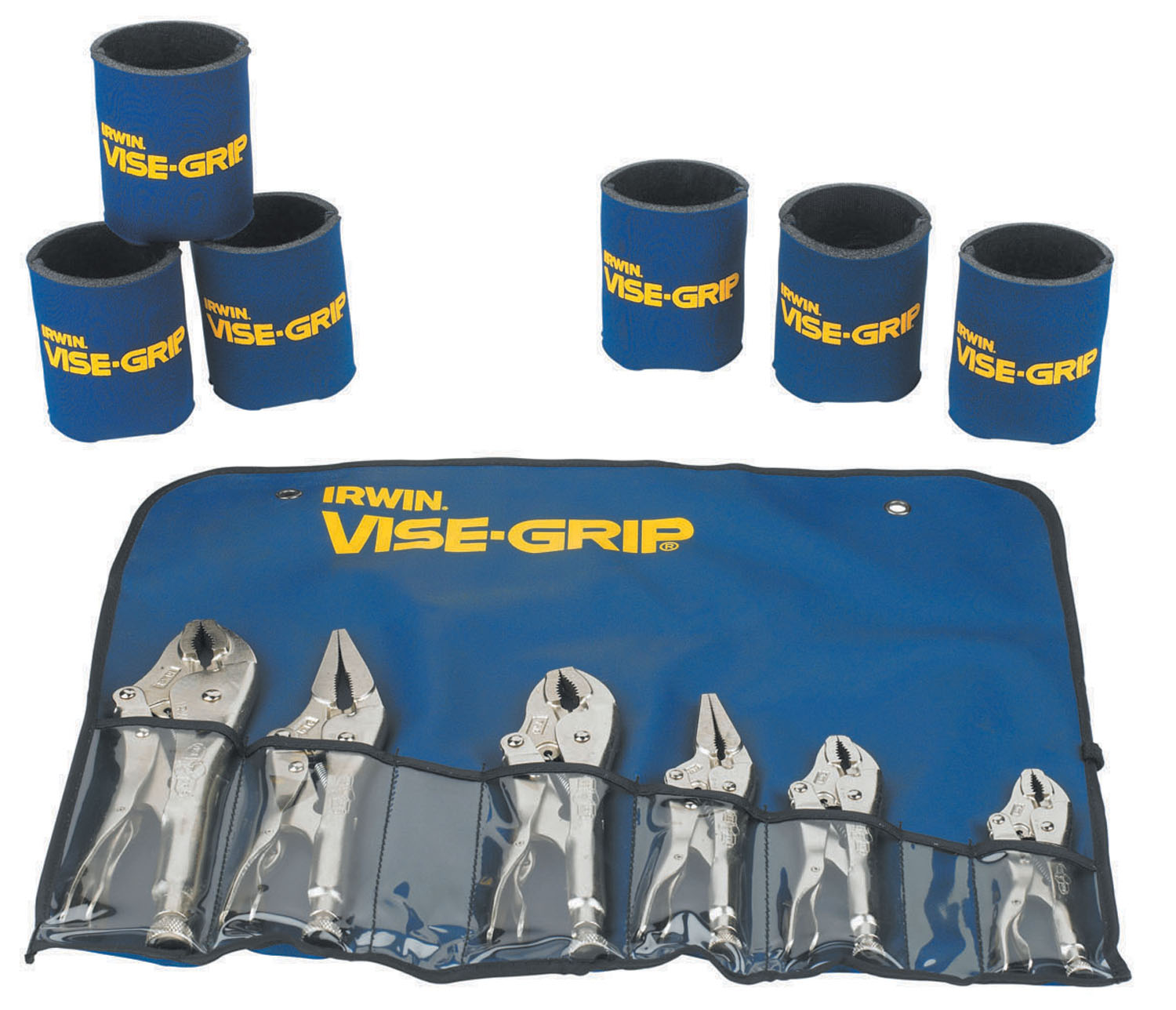 Vise Grip 6 Piece Tool Set in Bag with 6 Koozie Cups VSG-641KB