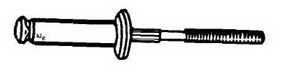 "W & E Fasteners Super-Split Glass Stop Rivet Aluminum Rivet/ Steel Mandrel 1/4"" Diameter, Package of 25 - WEF-2122"
