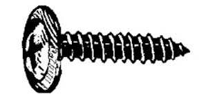 W & E Fasteners Phillips Flat Washer Head Screw, 4.2MM X 20MM-Pozidrive,GM & Universal,Black, Package Of 100 - WEF-2226