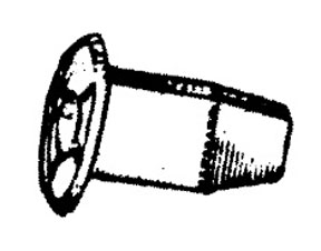 W & E Fasteners Plastic Screw GroMMet ,Toyota, Nissan, Mitsubishi, Package Of 25 - WEF-2277