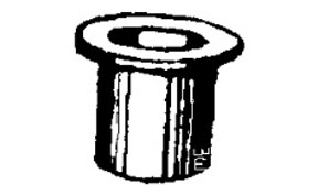 W & E Fasteners Door Hinge Bushing, Bronze GM- Trucks & Vans, Package Of 15 - WEF-2282