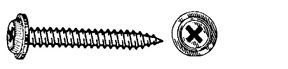 W & E Fasteners Phillips Pozidrive Round Washer Head Screw-AB GM & Ford Products-'80 & Up, Black, Package Of 50 - WEF-2325