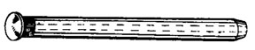 "W & E Fasteners Door Hinge Pin-11/32"" X 4-1/8""; Head Diameter 9/16"" GM Cars & Trucks, Package Of 8 - WEF-2357"