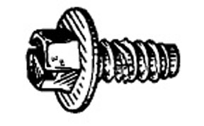 "W & E Fasteners License Plate Screw-1/4""-14 X 5/8, Package Of 50 - WEF-2446"