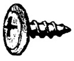 """W & E Fasteners Phillips Round Washer Head Screw Chrome Plated, #8 X 5/16"""", Package Of 100 - WEF-2450"""