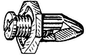 W & E Fasteners Screw Rivet, Bumper Fascia Octagonal Head Honda,'90 & Up, Package Of 10 - WEF-2549
