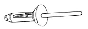 W & E Fasteners Countersunk  Nylon Blind Rivet, Package of 25 - WEF-2642