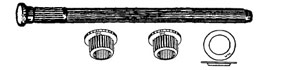 W & E Fasteners GM Full Size Trucks-Hinge Pin, Bushing, And Retainer Set-'88-'98 - WEF-2748