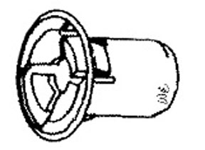 W & E Fasteners Retainer, Tail Lamp And Front Fascia GroMMet For 10MM Hole Size Ford- '95 & Up, Pack Of 25 - WEF-2850