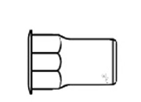 W & E Fasteners Threaded Inserts-Hexagonal Hole Steel, Plated, 20, Package of 25 - WEF-2903