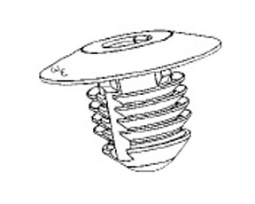 "W & E Fasteners Retainer-Bumper Fascia GM-""N"" Bodies-'99 & Up, Package Of 25 - WEF-3009"