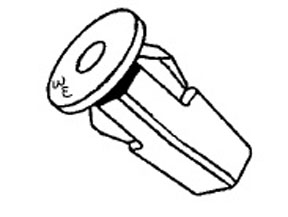 W & E Fasteners Screw GroMMet Fender Shield For 9 MM Square Hole, Package of 15 - WEF-3063