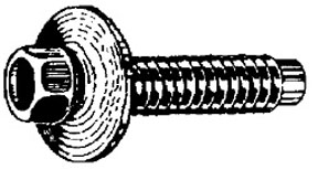 W & E Fasteners 6 X 25mm Hex Head Bolt With 17mm Loose Washer 10mm Hex Black, Gm, Package Of 25 - WEF-3089