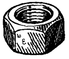 "W & E Fasteners Hex Nuts-1/4-20"" (Plated) - WEF-4001"