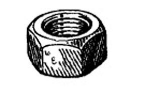 "W & E Fasteners Hex Nuts-5/16-18"" (Plated) - WEF-4002"