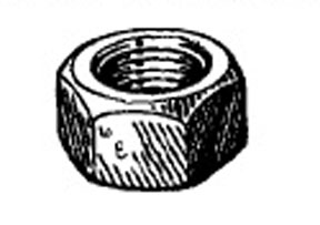 "W & E Fasteners Hex Nuts-3/8-16"" (Plated) - WEF-4003"