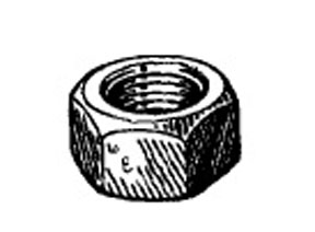 "W & E Fasteners Hex Nuts-1/2-13"" (Plated) - WEF-4005"