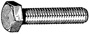 "W & E Fasteners Hex Head Caps Screws & Nuts USS, 1/4x1"", Package of 100 - WEF-4103"