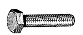 W & E Fasteners Metric Hex Head Cap Screw, 8 x 50mm - WEF-5808