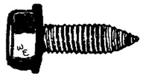 W & E Fasteners 6.3mm X 20mm Hex Washer Head Body Bolt CA PT. GM & Universal '77 & Up, Package Of 50 - WEF-5905